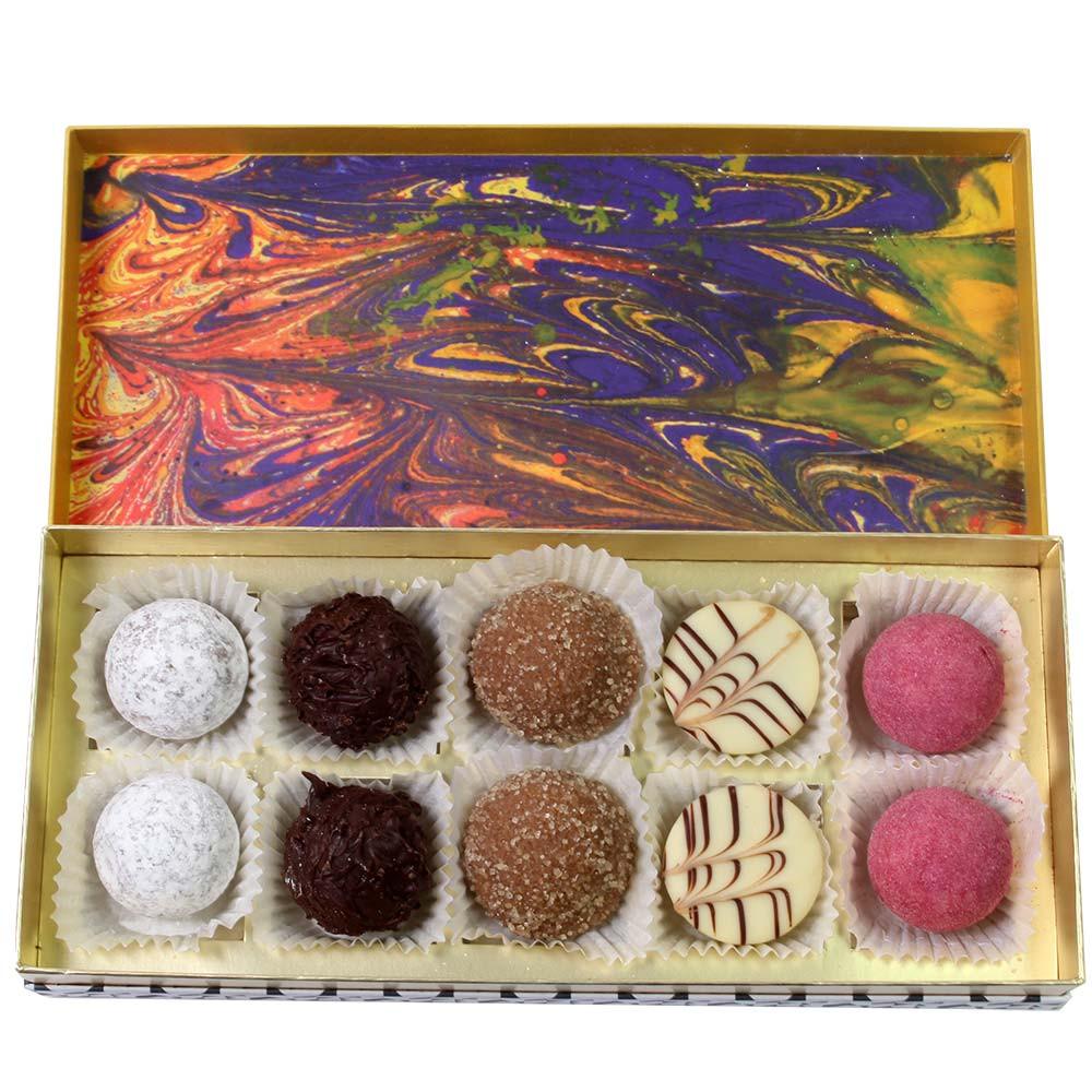Caja de bombones de trufa - Bombones, con el alcohol, Alemania, chocolate alemán, Chocolate con alcohol - Chocolats-De-Luxe