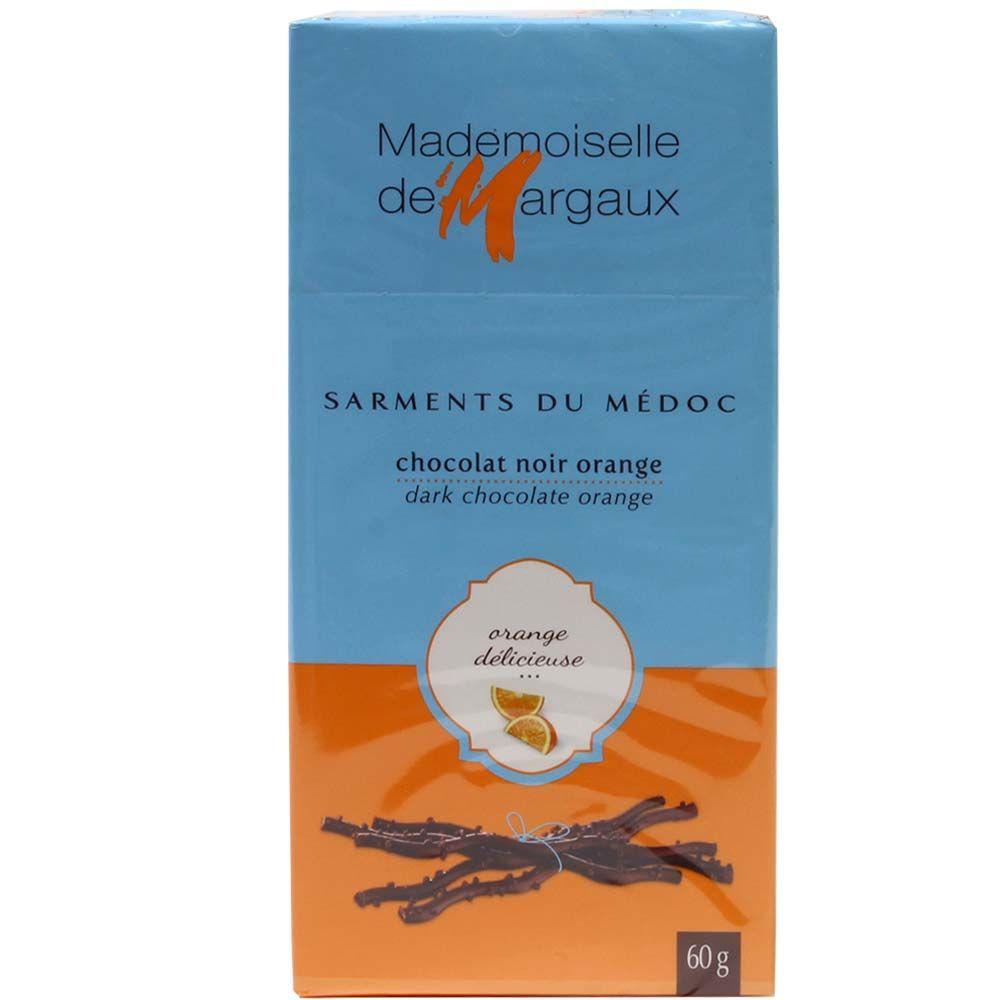 Mademoiselle de Margaux Fruchtstäbchen mit Orangenfüllung -  - Chocolats-De-Luxe