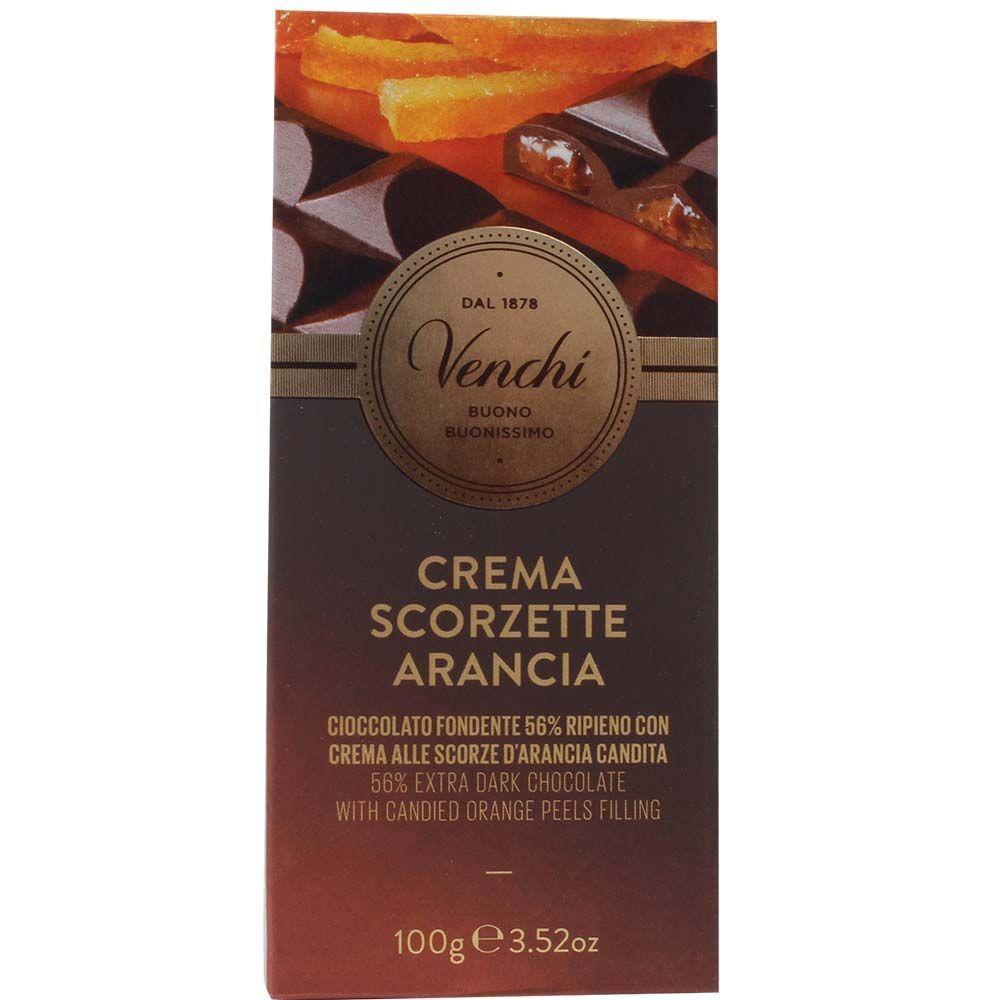 Dunkle de crème à l'écorce d'orange Tafelschokolade 56% - Tablette de chocolat, chocolat sans gluten, Italie, chocolat italien, chocolat à l'orange - Chocolats-De-Luxe