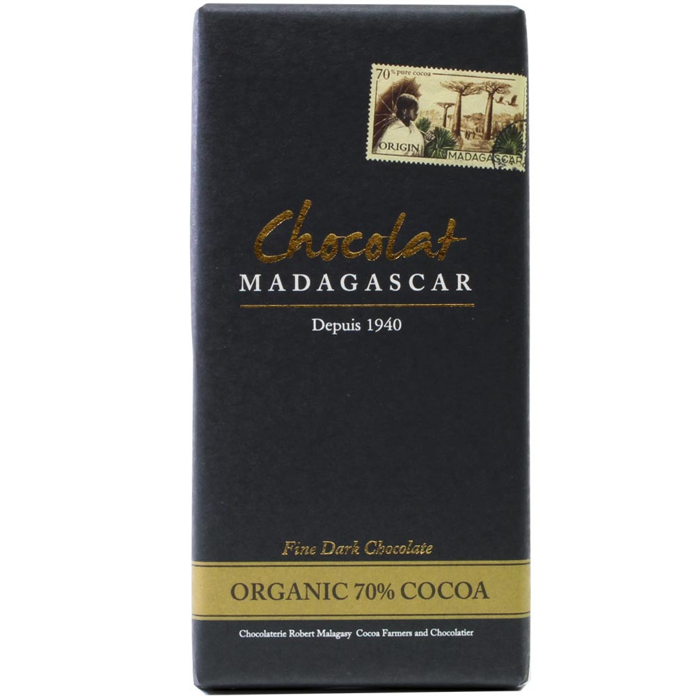 Madagaskar, dunkle Schokolade 100%, Bio - Bar of Chocolate, gluten free chocolate, laktose free chocolate, suitable for vegetarians, vegan chocolate, Madagascar, Madagascan chocolate - Chocolats-De-Luxe