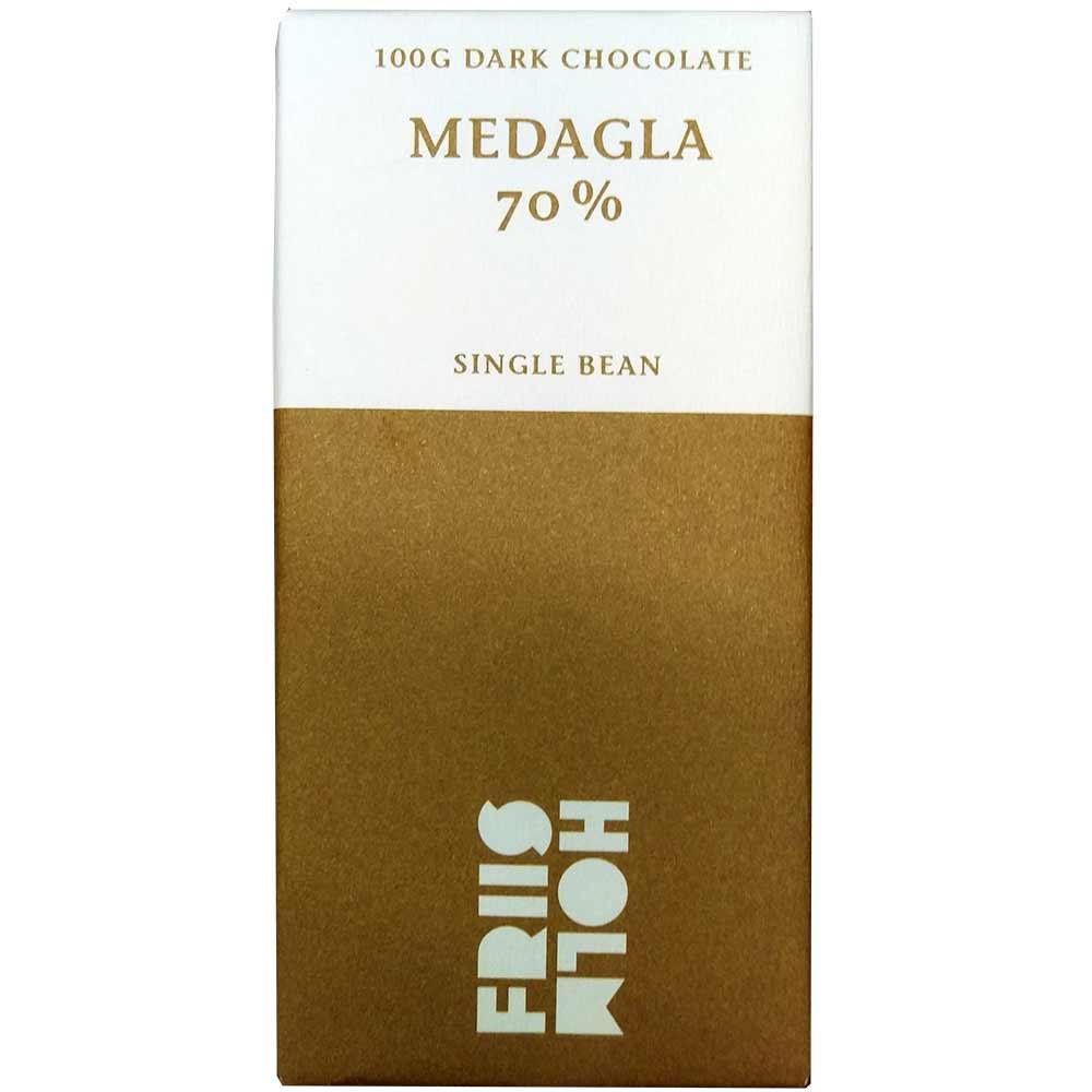 70% Nicaragua-medaille - Chocoladerepen, glutenvrije chocolade, lecithinevrije chocolade, sojavrije chocolade, veganistvriendelijk, Denemarken, Deense chocolade, Chocolade met suiker - Chocolats-De-Luxe