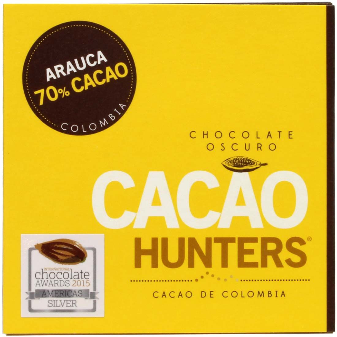 Cacao Hunters Arauca 70% Colombia - Bar of Chocolate, Columbia, Colombian chocolate - Chocolats-De-Luxe