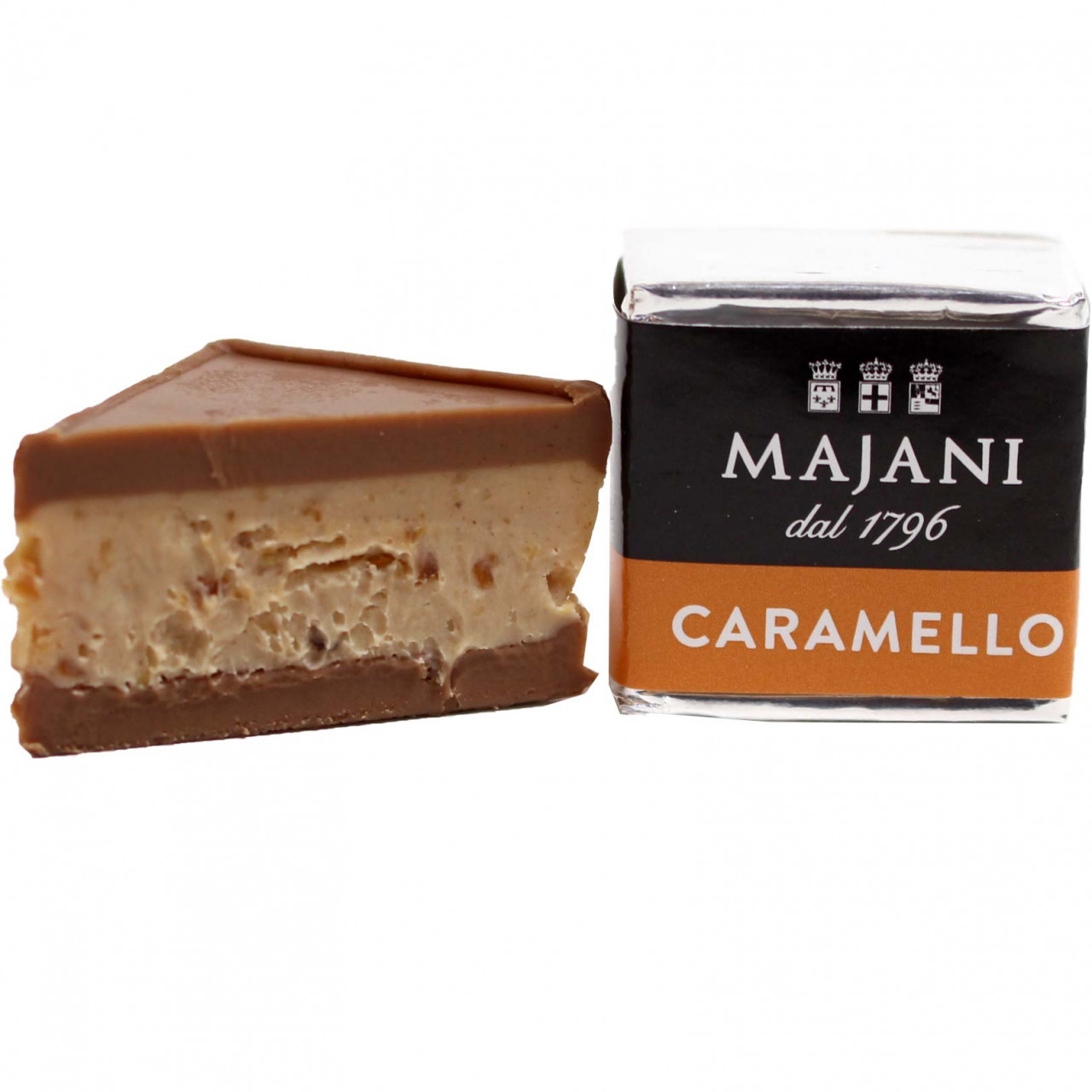 Cremino Carmello - Layered nougat praline with caramel - Sweet Fingerfood, alcohol free Chocolate, gluten free chocolate, palm oil free chocolate, Italy, italian chocolate, Chocolate with caramel - Chocolats-De-Luxe