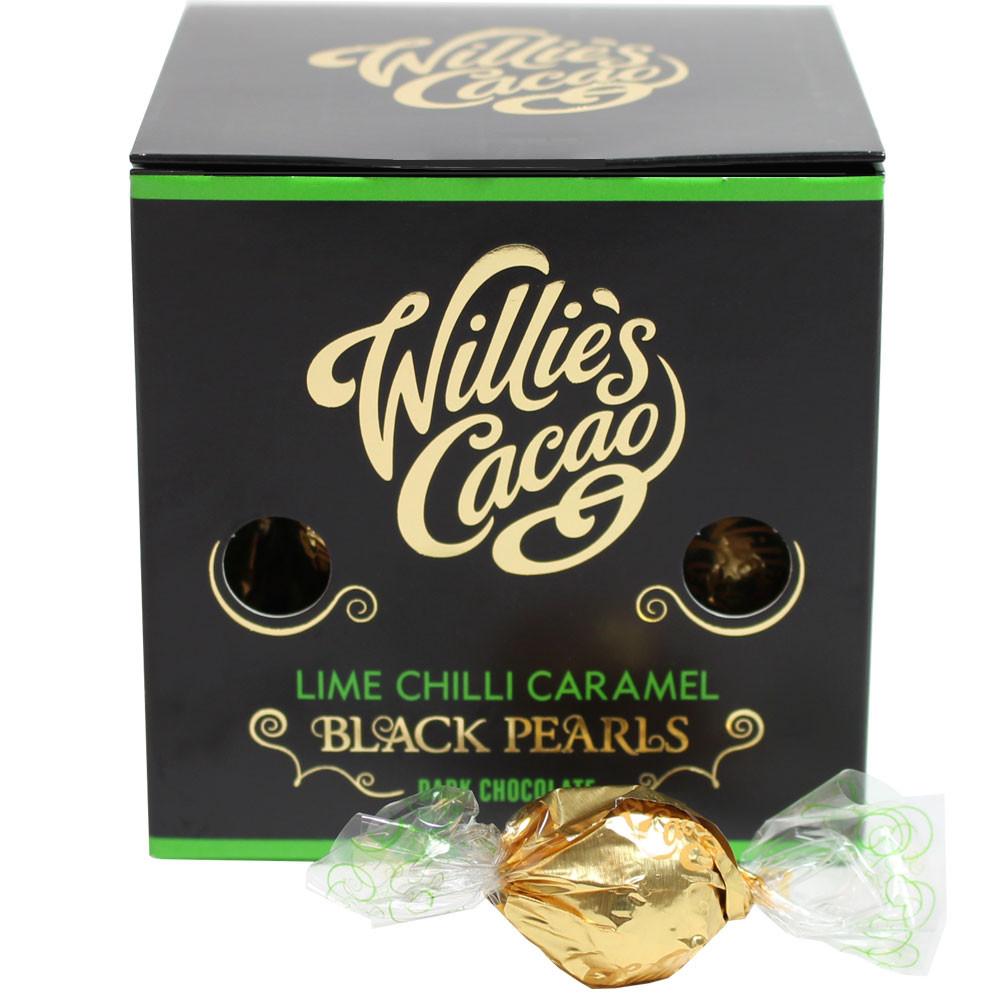 Chilli-Schokolade, Lime chocolate, chocolat noir, dunkle Schokolade, Zartbitterschokolade, Karamellfüllung, caramel chocolate, lime, - Pralines, Angleterre, chocolat anglais, au citron vert - Chocolats-De-Luxe