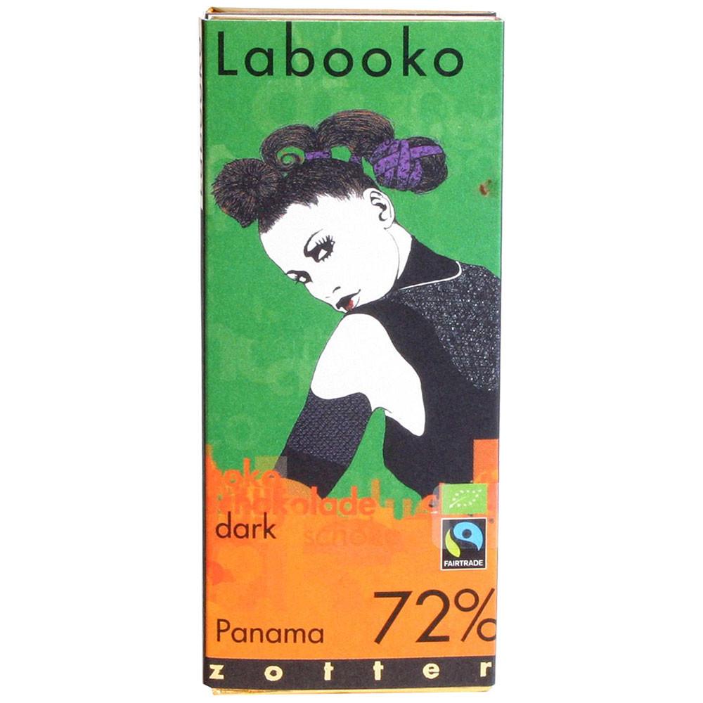 Labooko 72% biologische chocolade Panama, vegan - Chocoladerepen, lactosevrijechocolade, veganistische chocolade, Oostenrijk, Oostenrijkse chocolade, Chocolade met suiker - Chocolats-De-Luxe