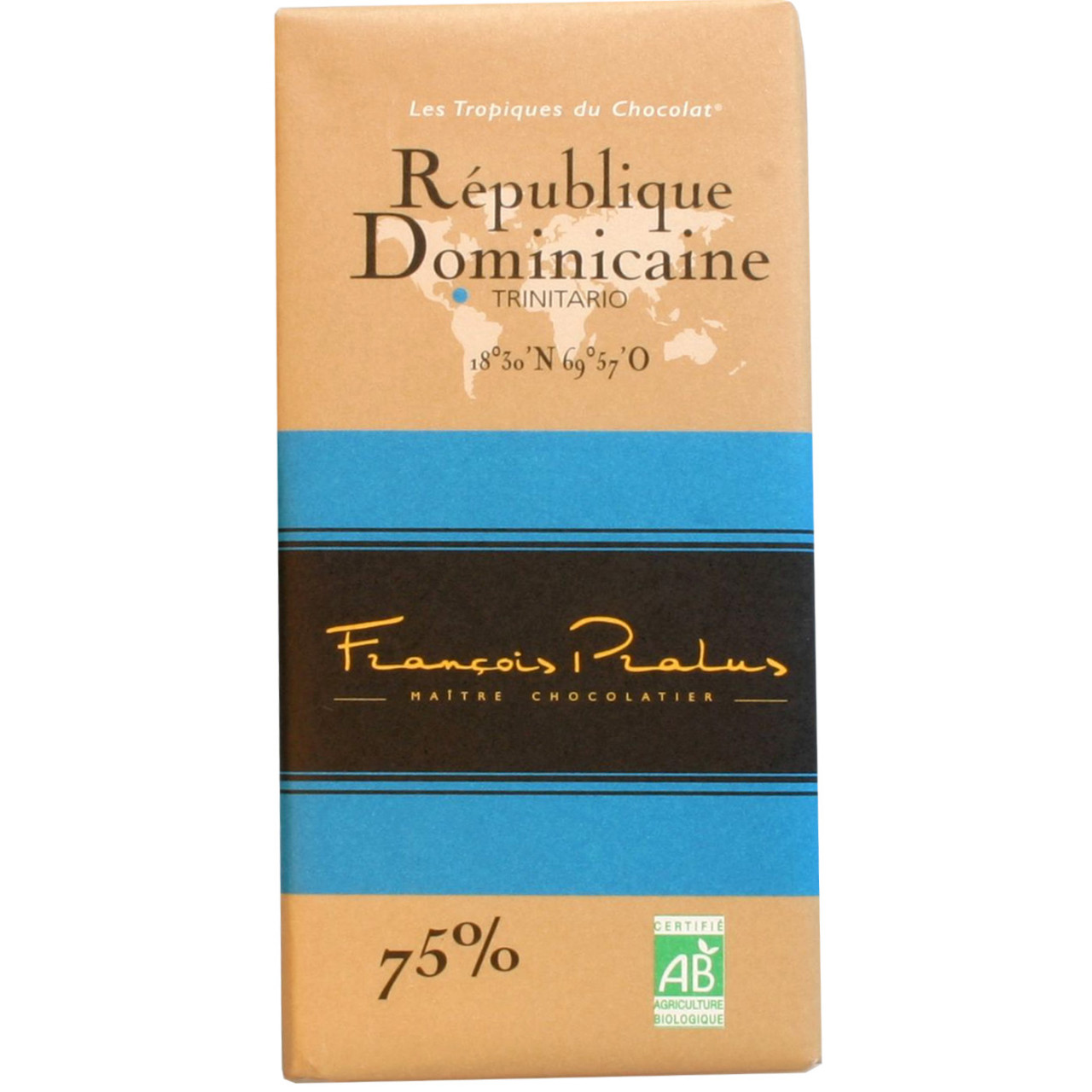 dunkle Schokolade, 75%, Domenikanische Republik, Trinitario, dark chocolate, chocolat noir, Herkunftsschokolade, Single Origin, Bean to Bar Schokolade - $seoKeywords- Chocolats-De-Luxe