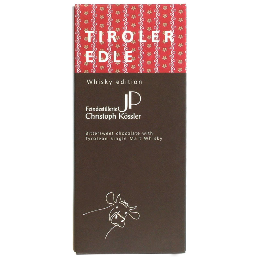 Tiroler Edle Österreich Grauvieh Whisky dark chocolate filled chocolat noir - $seoKeywords- Chocolats-De-Luxe