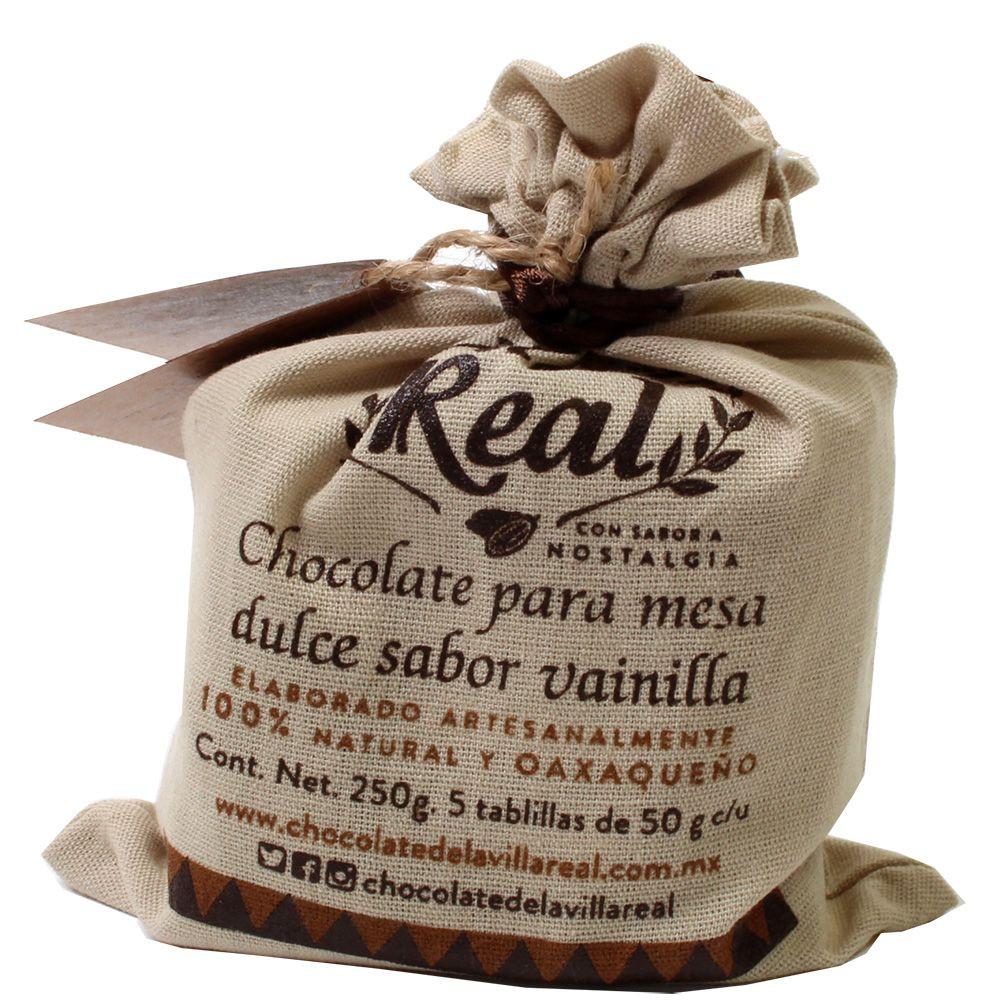 Bere cioccolato al 40% con vaniglia in un sacchetto di stoffa 250g