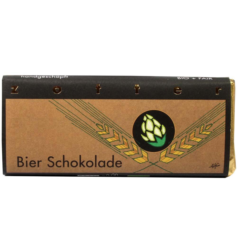 Beer Chocolate - Pure melkchocolade met bierganache - Chocoladerepen, met alcohol, Oostenrijk, Oostenrijkse chocolade, Chocolade met bier - Chocolats-De-Luxe