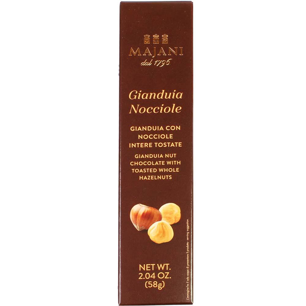 Gianduia Nocciole - Hazelnut-nougat bar with whole hazelnuts - Finger bar, gluten free, Italy, italian chocolate, chocolate with hazelnut, hazelnut chocolate - Chocolats-De-Luxe