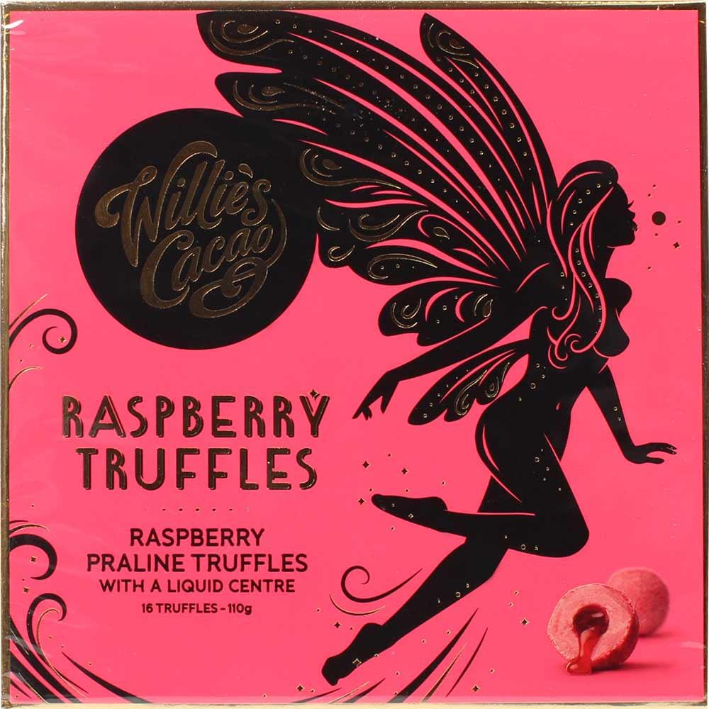 Raspberry Truffles - truffe pralinée fourrée à la framboise - coffret cadeau - Truffe, sans alcool, sans lécithine, Angleterre, chocolat anglais, chocolat à la framboise, chocolat à la framboise - Chocolats-De-Luxe