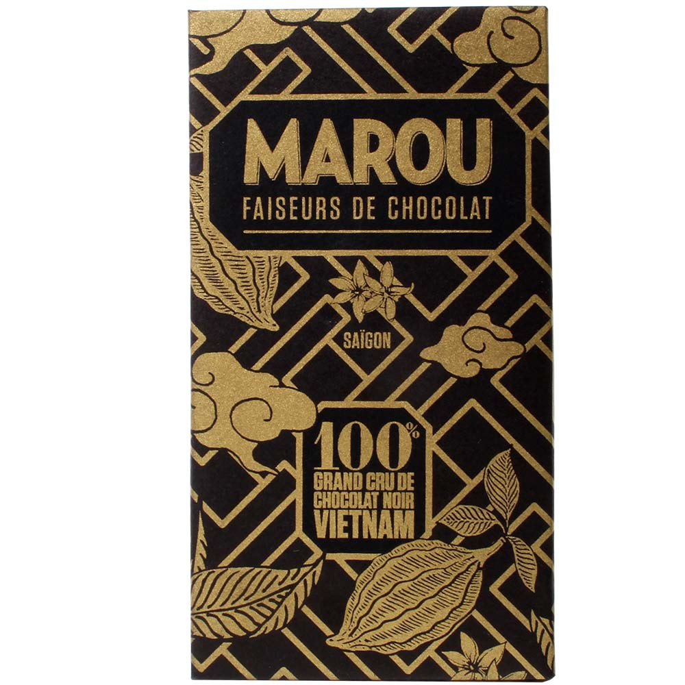 100% chocolate Grand Cru Sô-Cô-Laden from Vietnam - Bar of Chocolate, gluten free chocolate, laktose free chocolate, nut free chocolate, palm oil free chocolate, soy free chocolate, sugar free chocolate, vegan chocolate, Vietnam, Vietnamese chocolate, plain pure chocolate without ingredients - Chocolats-De-Luxe