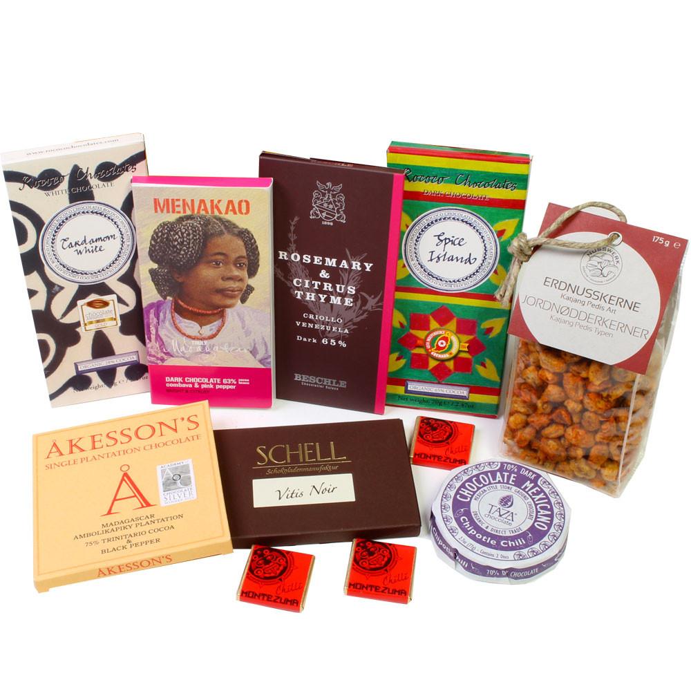 Peperoncino, spices, herbs, hemp, basil. lime, romarin, thym citron, dark chocolate, milk chocolate, chocolat noir, dark chocolate, - Cioccolato con spezie - Chocolats-De-Luxe