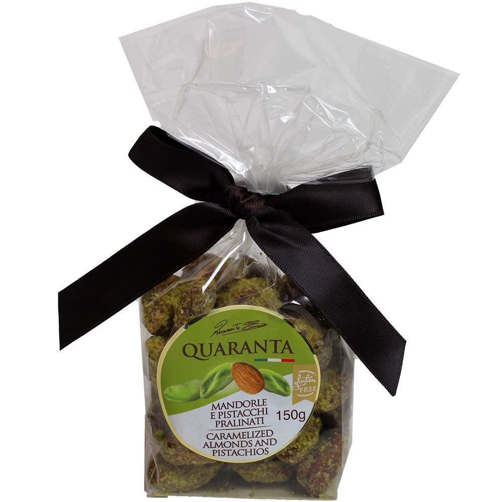 Praline Almonds and Pistachios - karamellisierte Mandeln mit Pistazien