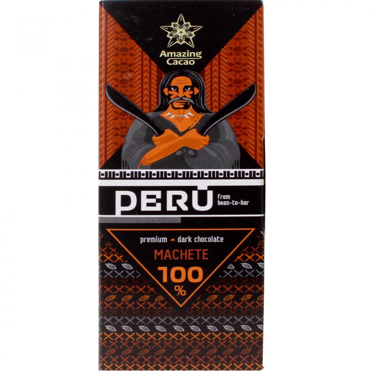 Peru Machete 100% dunkle Schokolade - Chocoladerepen, suikervrije chocolade, chocolade zonder toegevoegde suiker, Rusland, Russische chocolade - Chocolats-De-Luxe