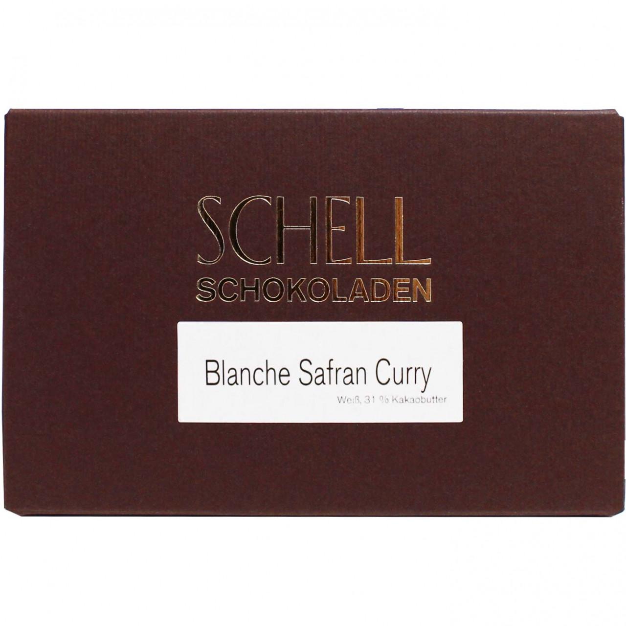 Curry Blanche Safran 28% - chocolat blanc - Tablette de chocolat, Allemagne, chocolat allemand, Chocolat aux épices - Chocolats-De-Luxe