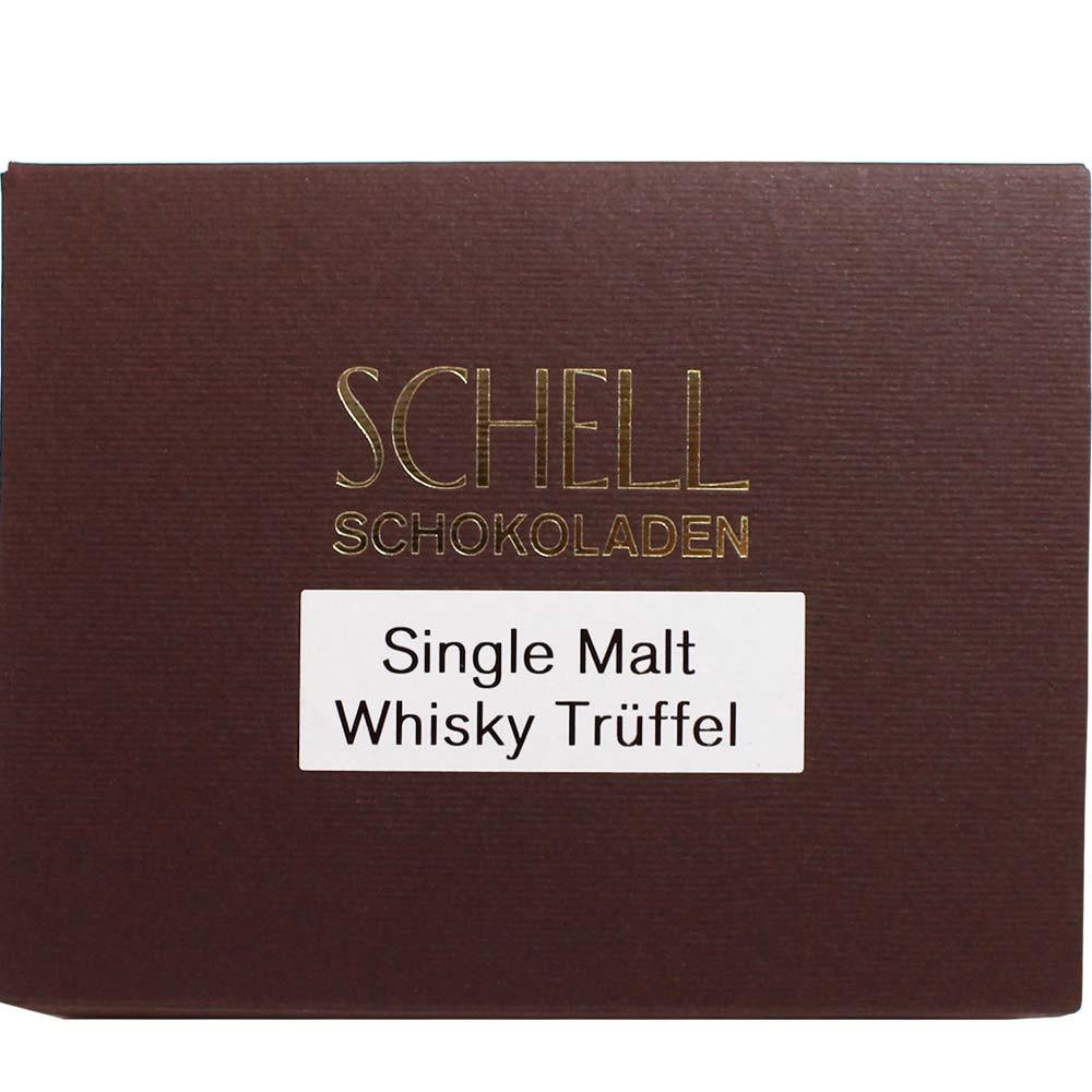 Schell Schokolade, Pralinen, Zartbitterschokolade, Dunkle Schokolade, Schell, Trüffel gefüllt, Whisky, Deutschland