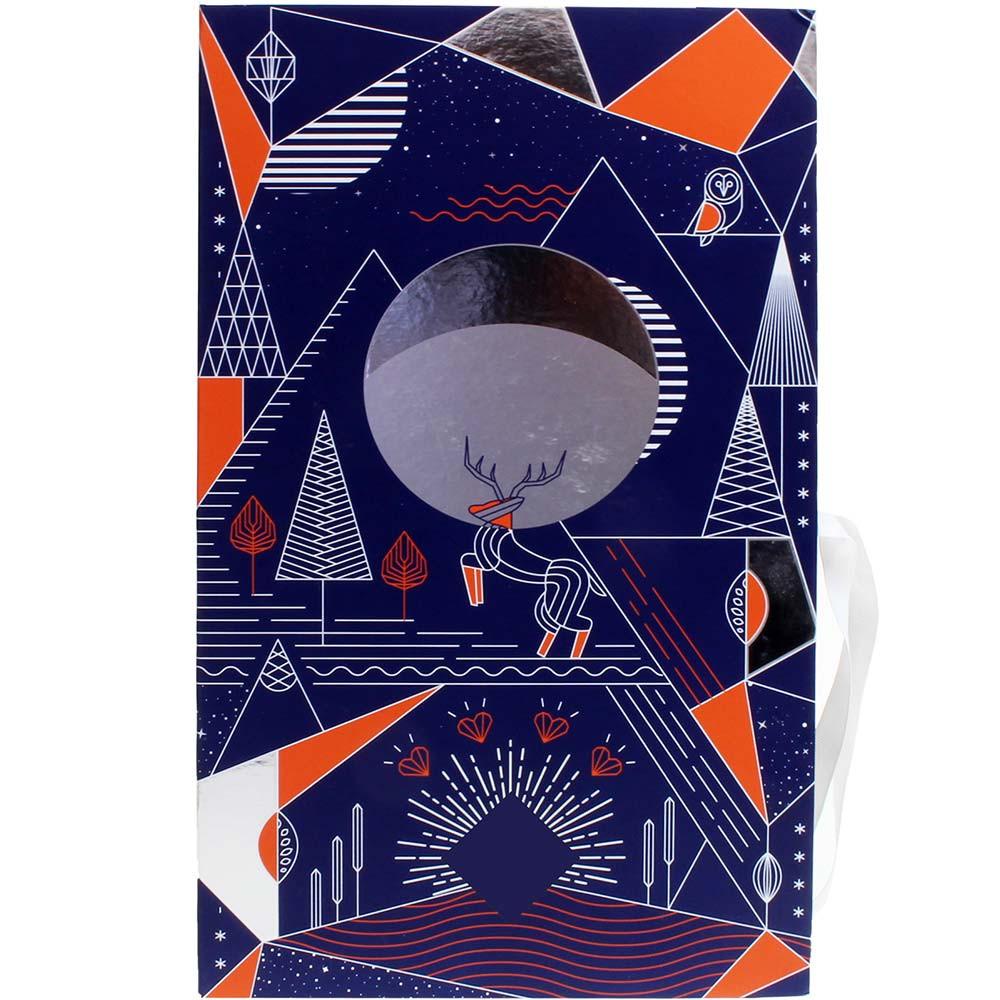Calendrier de l'Avent - Calendario dell'Avvento con ripieno di praline - Calendario dell'avvento, Cioccolato senza alcol, cioccolato senza soia, sans arômes artificiels / additifs, Francia, cioccolato francese - Chocolats-De-Luxe