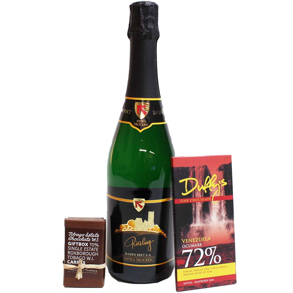 Sparkling wine and chocolate gift set -  - Chocolats-De-Luxe
