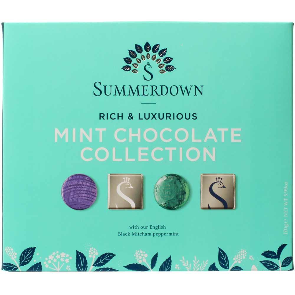Mint Chocolate Collection - Minz Schokoladen Kollektion - Napolitains, Carrés au chocolat, Angleterre, chocolat anglais, Chocolat avec menthe - Chocolats-De-Luxe