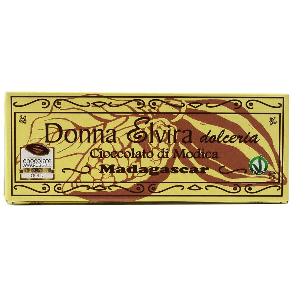 Donna Elvira Modica Chocolate_Madagascar 70% - Bar of Chocolate, Italy, italian chocolate, Chocolate with sugar - Chocolats-De-Luxe
