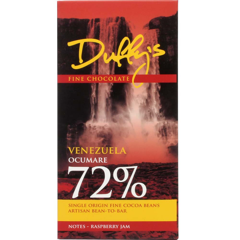 Venezuela Ocumare Criollo Cioccolato Fondente 72% - Tavola di cioccolato, Cioccolato senza alcol, cioccolato senza glutine, cioccolato senza lattosio, cioccolato senza noci, cioccolato senza olio di palma, cioccolato senza soia, sans arômes artificiels / additifs, vegan-cordiale, Inghilterra, cioccolato inglese, Cioccolato con zucchero - Chocolats-De-Luxe