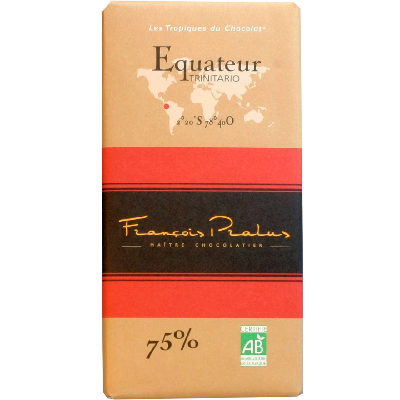 dunkle Schokolade 75%, Ecuador, Trinitario, dark chocolate, chocolat noir,