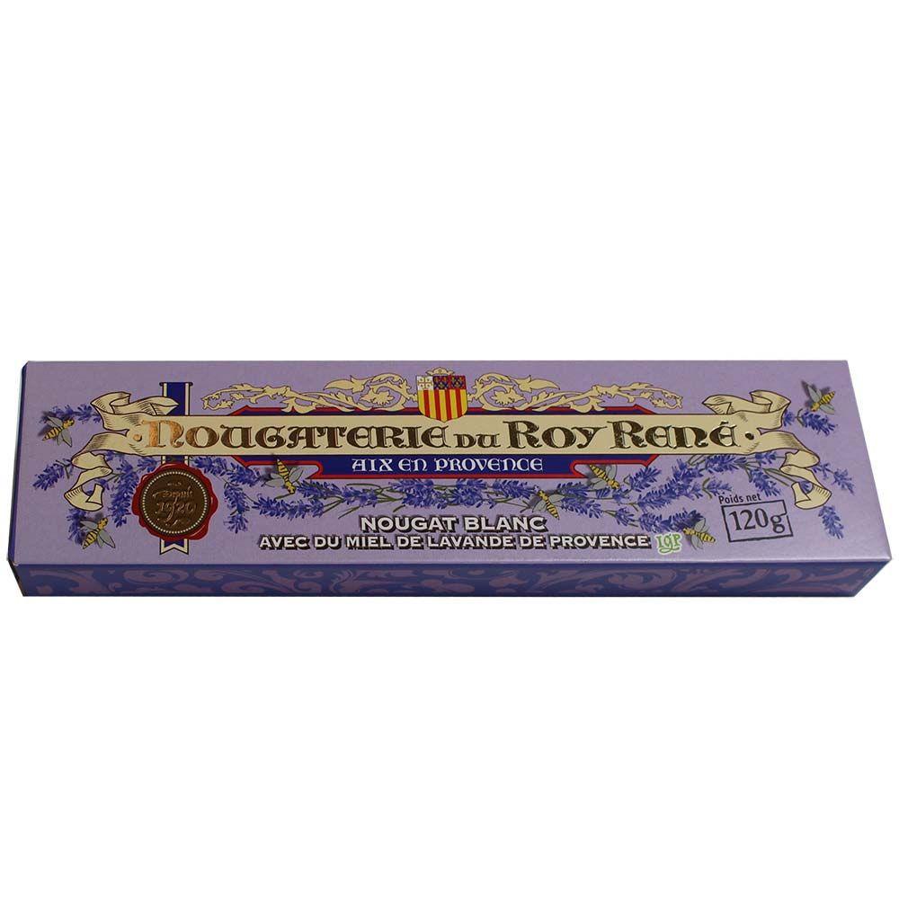 Nougat Blanc avec du Miel de Lavande de Provence - weisser Nougat mit Lavendel Honig -  - Chocolats-De-Luxe