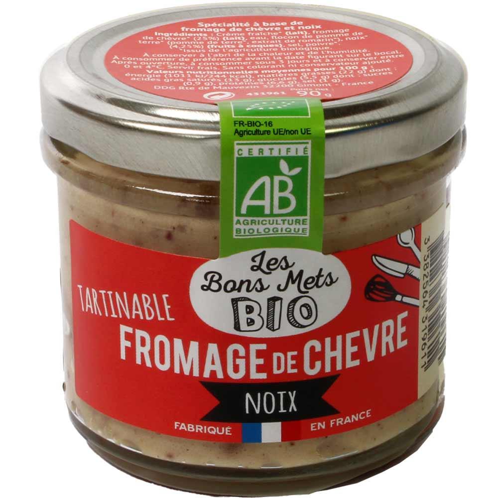 Tartinable Fromage de Chèvre Noix BIO - Aufstrich mit Ziegenkäse und Walnüssen - Sweet Fingerfood - Chocolats-De-Luxe