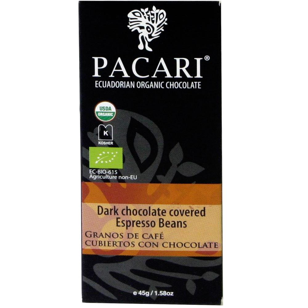 Ecuador, Bio, Fair Trade, Guave, Kaffeebohnenstückchen, Pacari, dunkle Schokolade, dark chocolate, coffee,