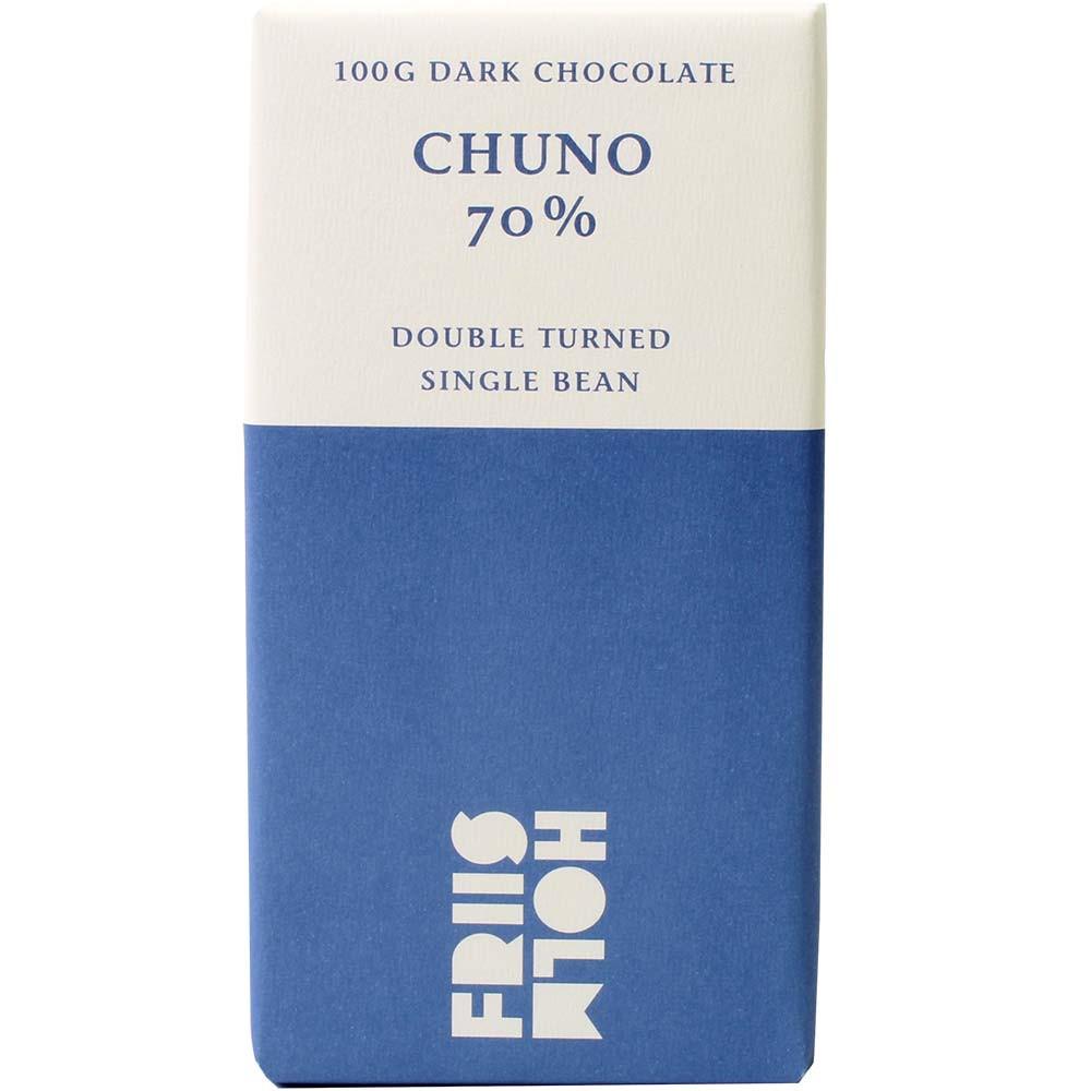 Chuno 70% Cacao Chocolate Doble Volteado - $seoKeywords- Chocolats-De-Luxe