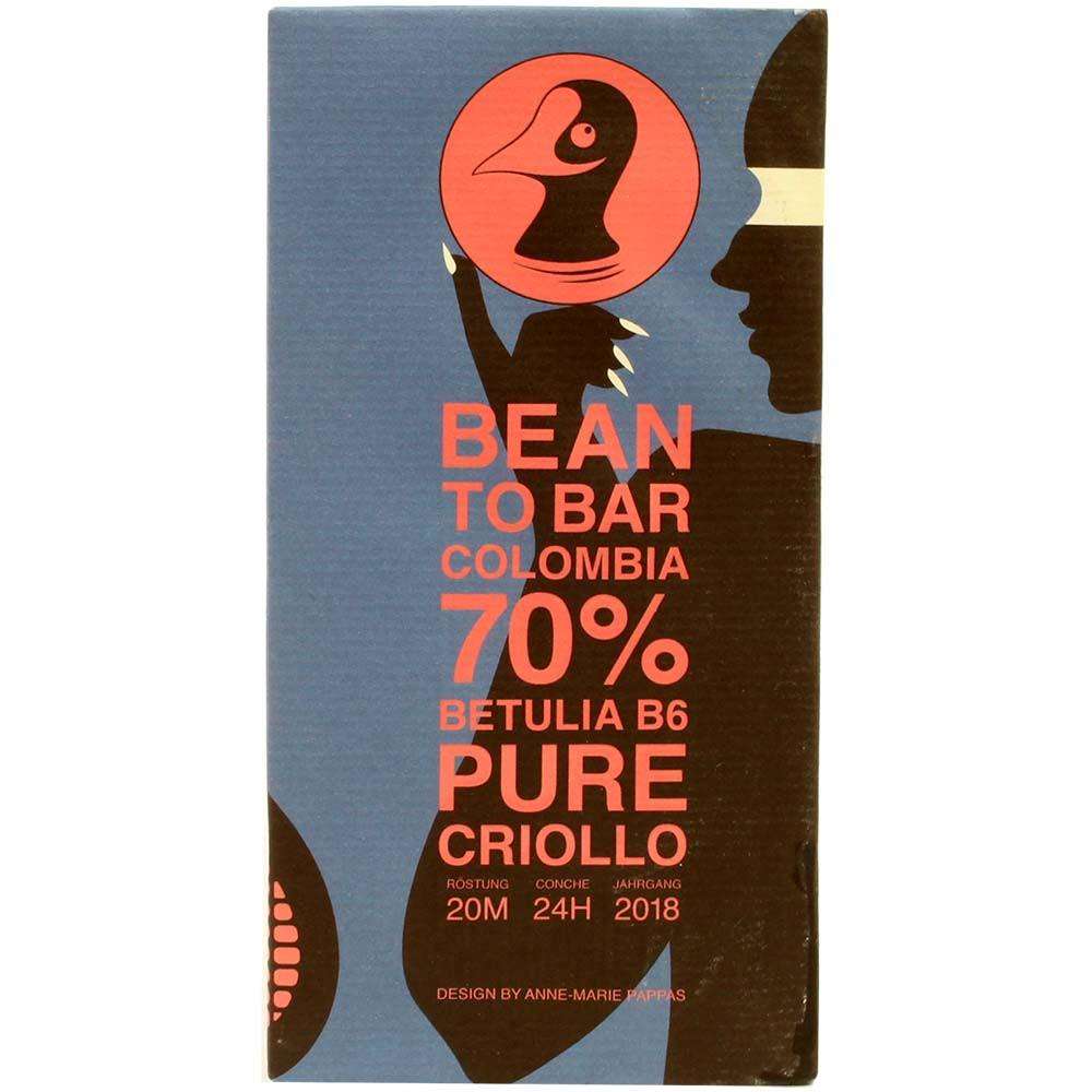 Colombia 70% Betulia B6 Pure Criollo - cioccolato fondente
