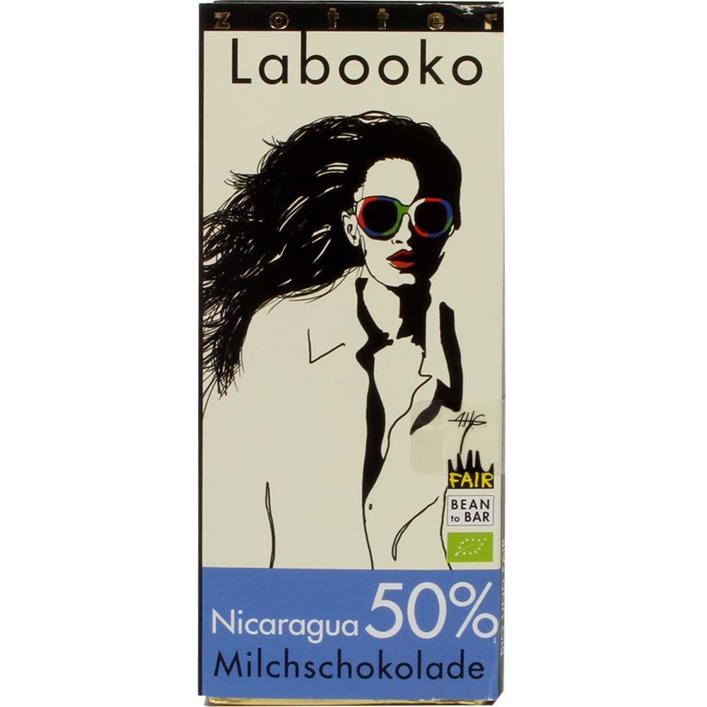 Labooko Nicaragua 50% BIO milk chocolate - Bar of Chocolate, gluten free chocolate, Austria, austrian chocolate, chocolate with milk, milk chocolate - Chocolats-De-Luxe