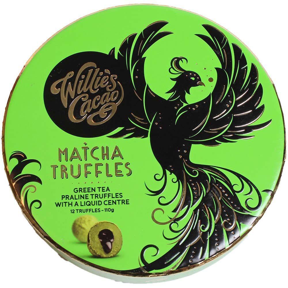 Matcha Truffles au chocolat blanc - Coffret cadeau - Truffe, Angleterre, chocolat anglais, Chocolat avec Matcha - Chocolats-De-Luxe