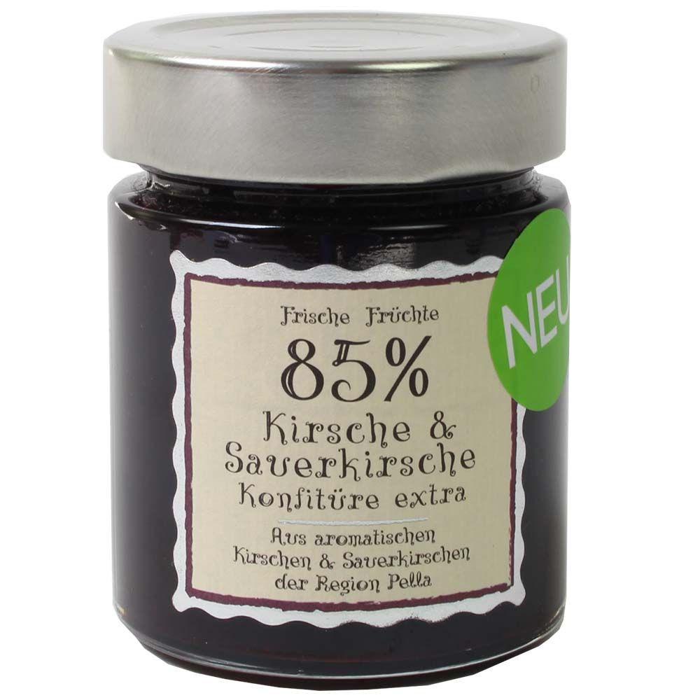 Cherry & Sour Cherry Jam Extra 85% fruitgehalte -  - Chocolats-De-Luxe