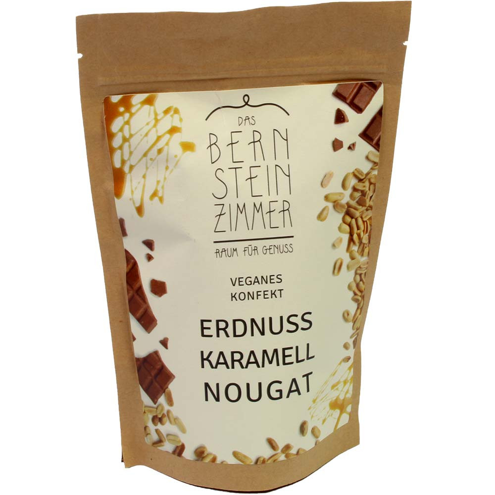 Erdnuss Karamell Nougat - veganes BIO Konfekt in der Tüte - $seoKeywords- Chocolats-De-Luxe