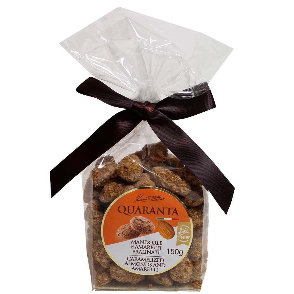 Almendras y praliné Amaretti - karamellisierte Mandeln mit Amaretti Keks