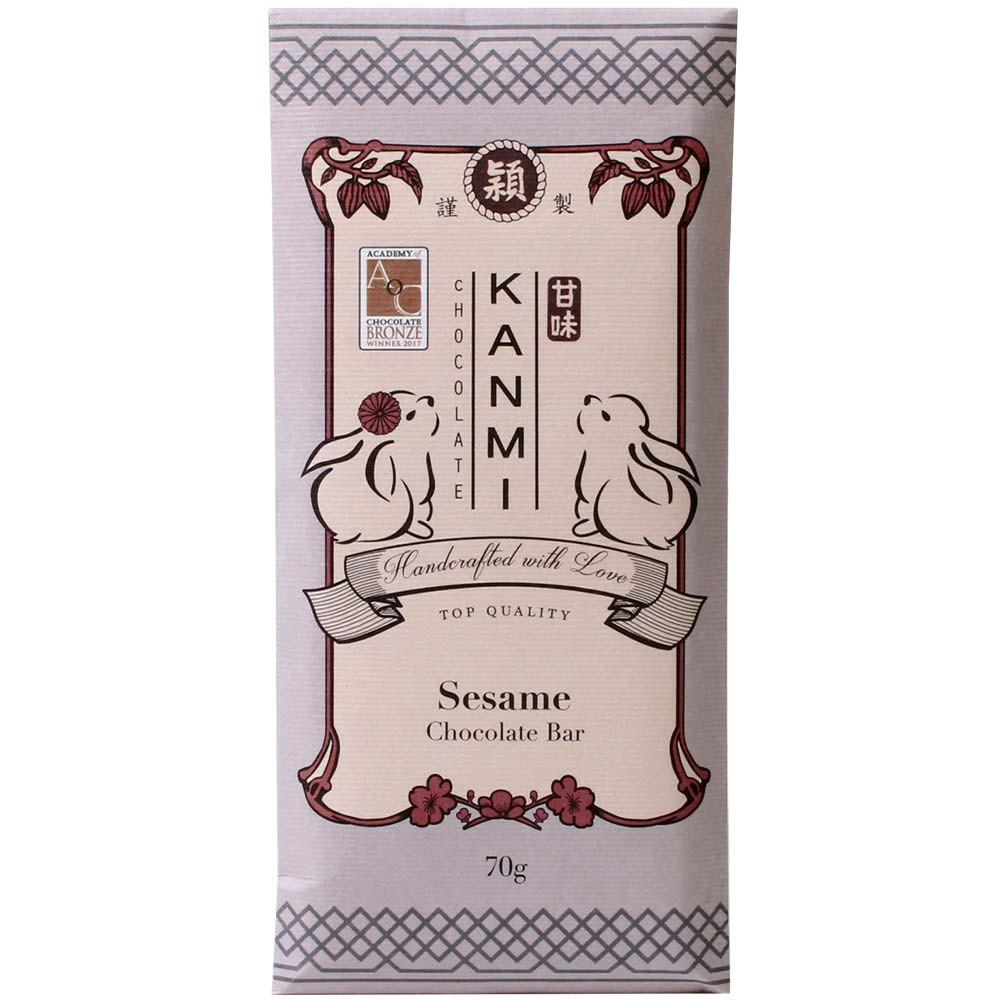 Chocolat blanc au sésame 34% -  - Chocolats-De-Luxe