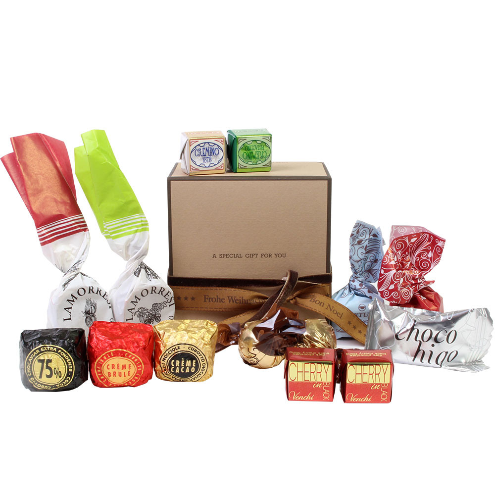 Geschenkschachtel, Weihnachten, -  - Chocolats-De-Luxe