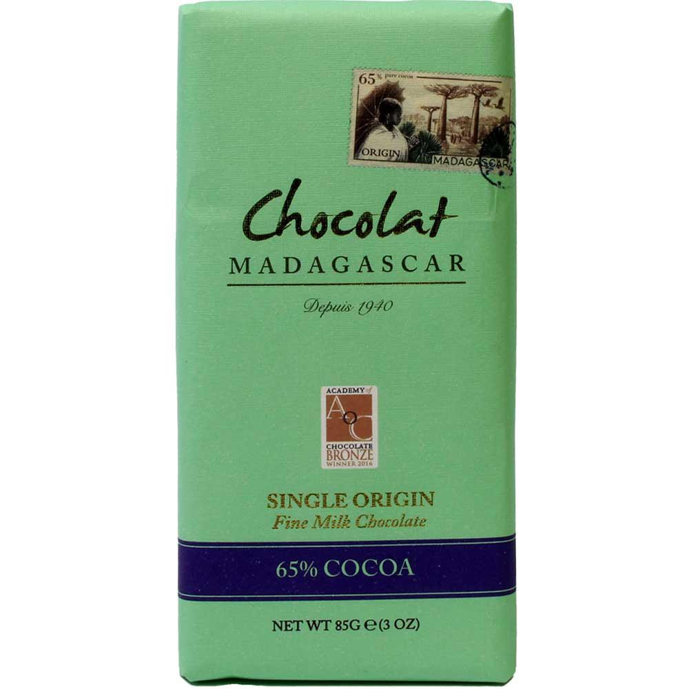 Chocolat au lait noir fin 65% chocolat au lait noir - Tablette de chocolat, chocolat sans gluten, chocolat sans soja, convient aux végétariens, Madagascar, chocolat malgache, chocolat au lait - Chocolats-De-Luxe