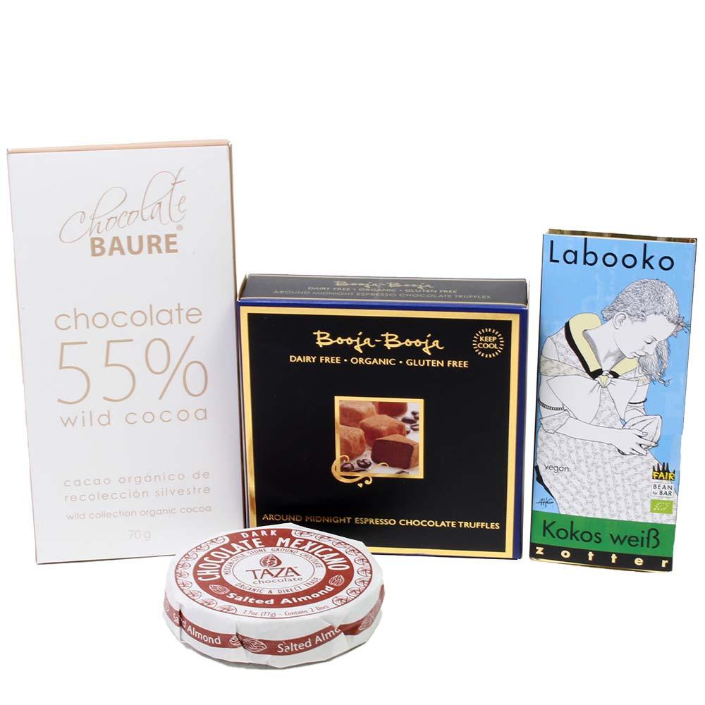 Genusspaket mit laktosefreier Schokolade und Trüffeln -  - Chocolats-De-Luxe