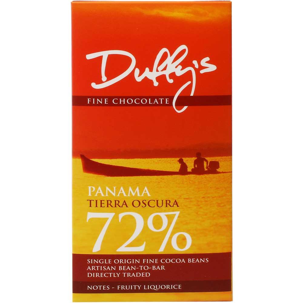 Panama Tierra Oscura 72% pure chocolade - Chocoladerepen, glutenvrij, melkeiwitvrij, nootvrij, sojavrije chocolade, veganistvriendelijk, Engeland, engelse chocolade, Chocolade met suiker - Chocolats-De-Luxe