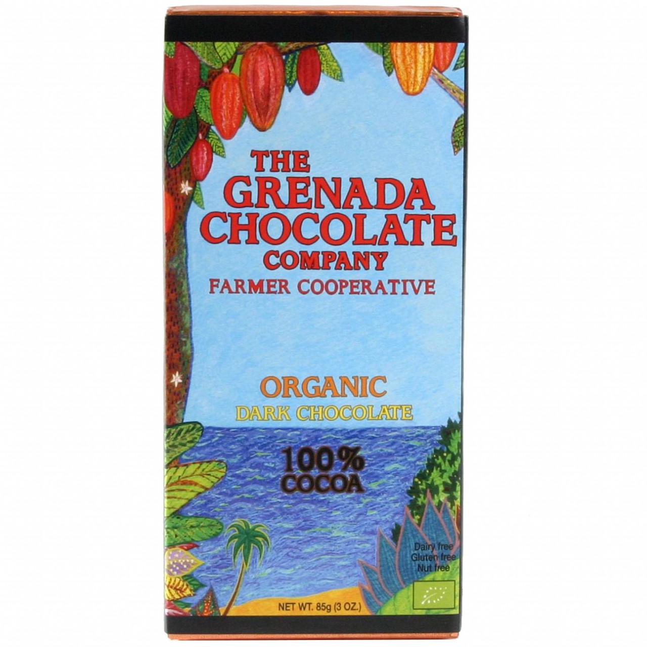 Grenada Chocolate, dunkle Bio Schokolade, Organic Dark Chocolate, chocolat noir, cocoa cacao, Mott Green - Tablette de chocolat, chocolat sans noix, Grenada, chocolat de Grenade - Chocolats-De-Luxe