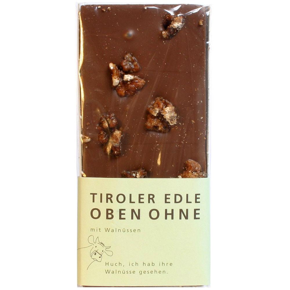 Tiroler Edle Österreich Domori Tiroler Grauvieh dunkle Schokolade mit Walnuss 35% milk chocolate chocolat au lait walnuts