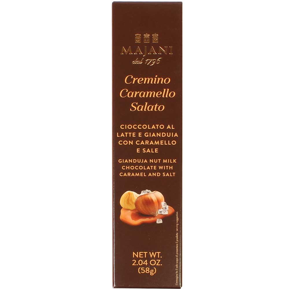 Cremino Caramello Salato - nougat bar with salted-caramel - Finger bar, gluten free, Italy, italian chocolate, Chocolate with almonds, almond chocolate - Chocolats-De-Luxe