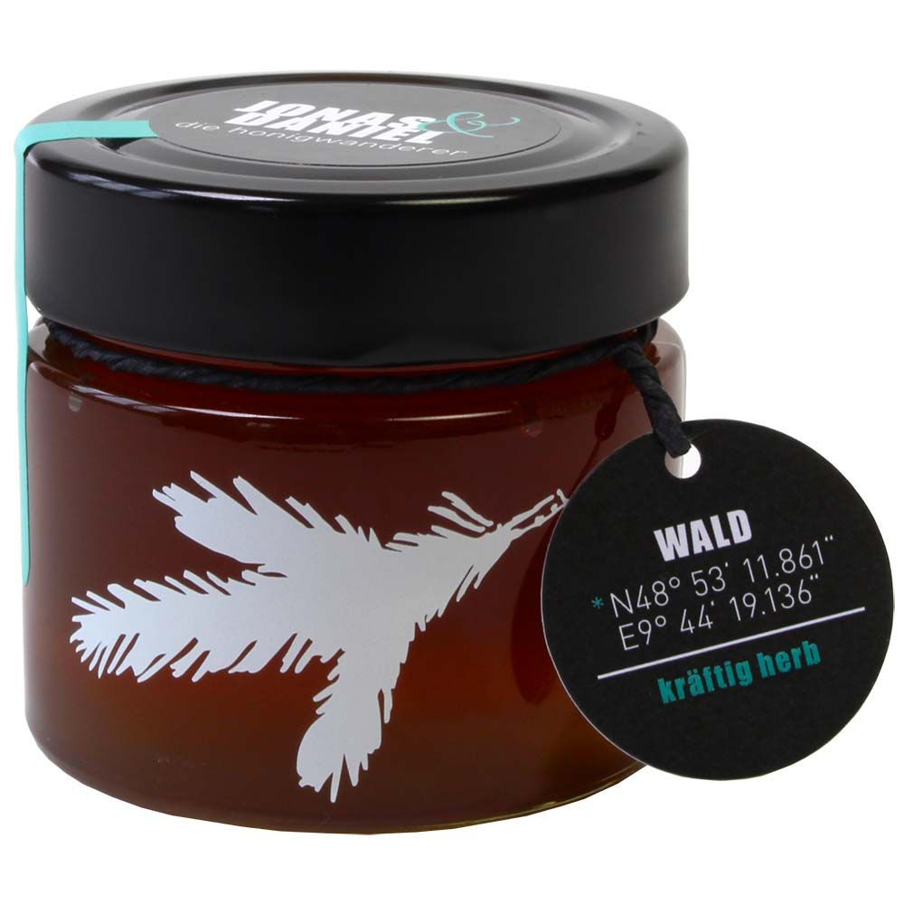 Die Honigwanderer Waldhonig Bio 250g Glas