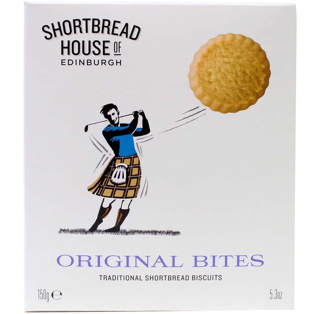 Morsi originali - Frollini dalla Scozia , Great Taste Awards 1 Stella , banderuola, etichetta , bianco , Biscotti , - Chocolats-De-Luxe