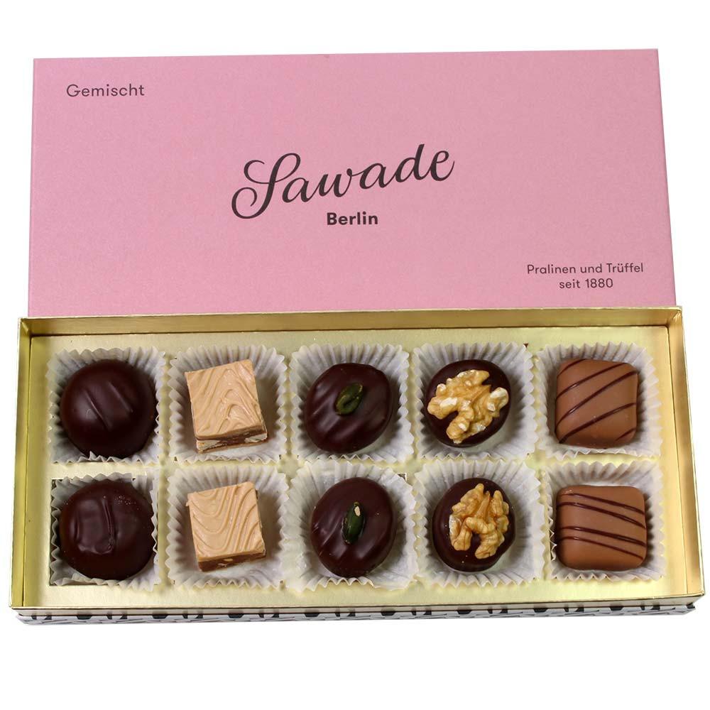 Scatola mista di cioccolatini - Cioccolatini, cioccolato senza glutine, Germania, cioccolato tedesco, Cioccolato con alcool - Chocolats-De-Luxe
