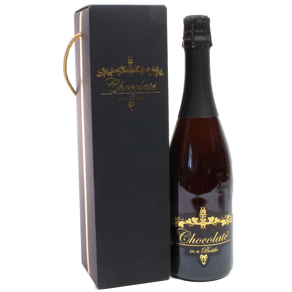 Chocolate en una botella en una caja de regalo -  - Chocolats-De-Luxe