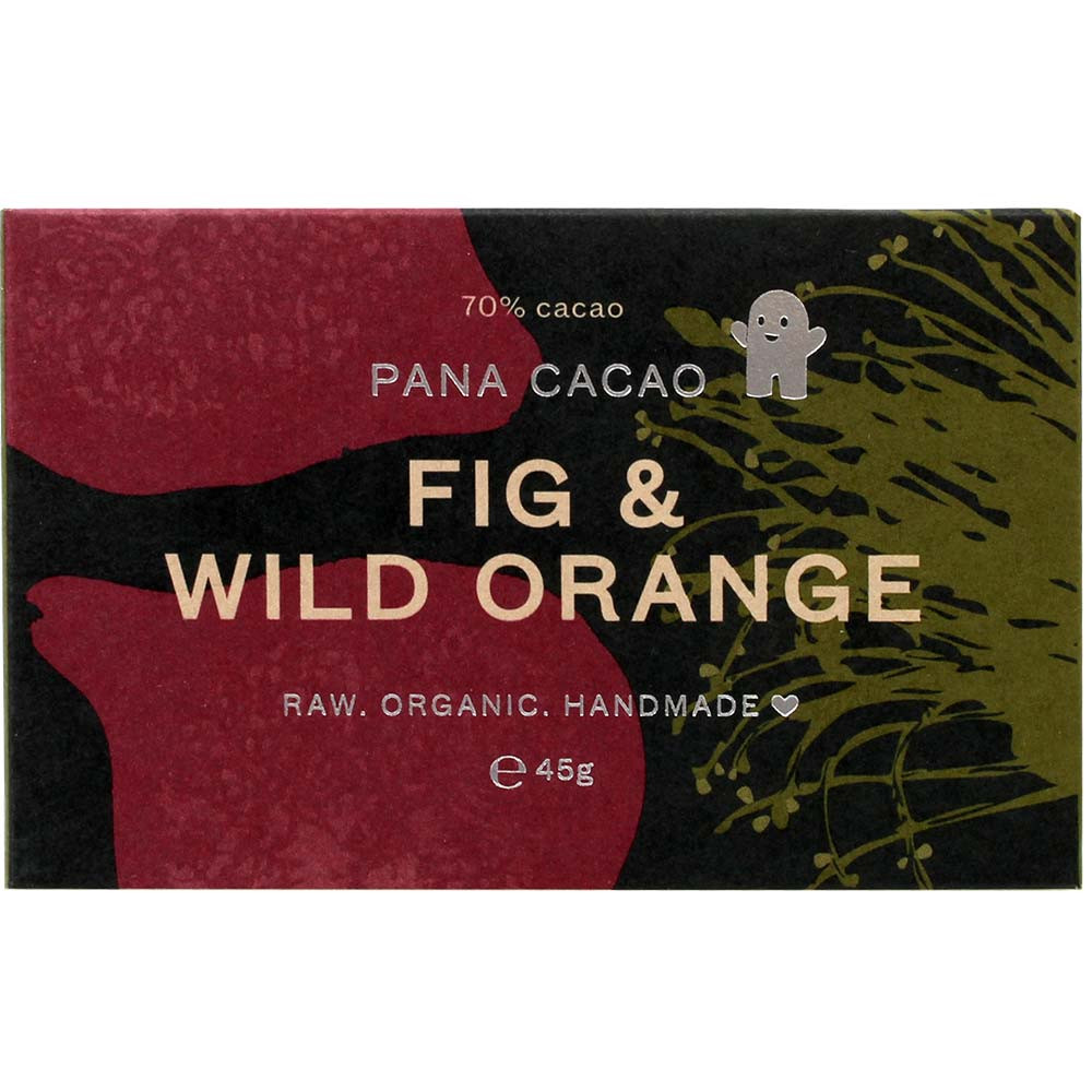 70% chocolate with fig & wild orange + coconut oil -  - Chocolats-De-Luxe